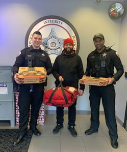 Free Pizza for local Police officers